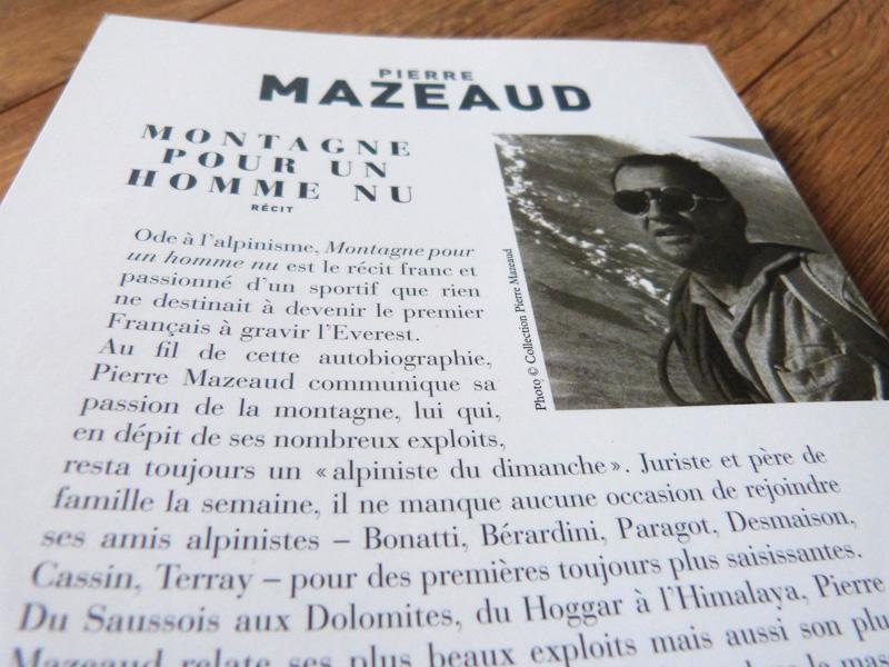 Montagne pour un homme nu - Pierre Mazeaud