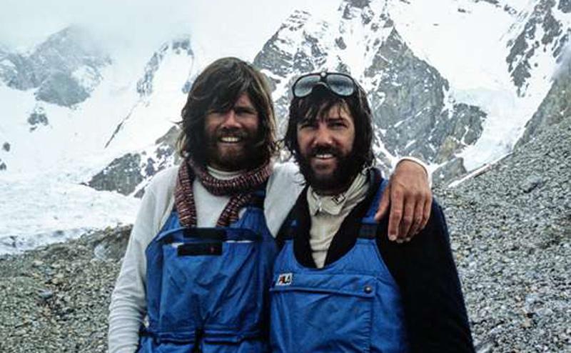 Reinhold Messner et Hans Kammerlander au Gasherbrum II en 1984