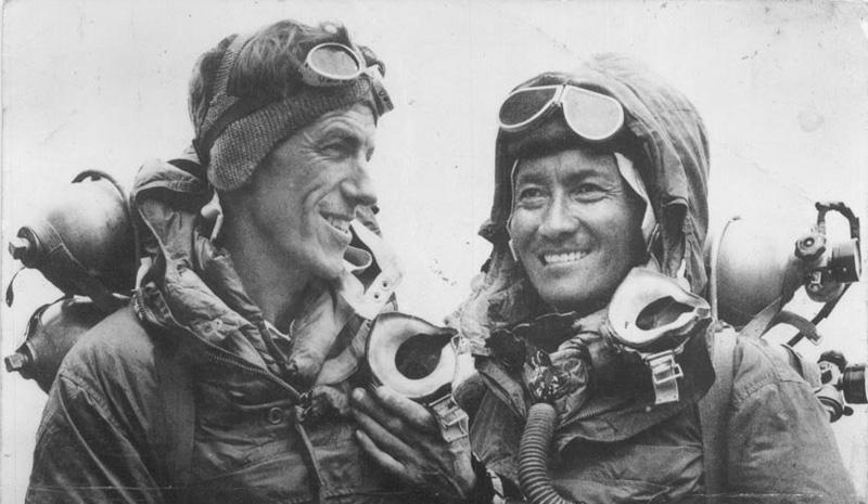 Edmund Hillary et Tenzing Norgay sur l'Everest