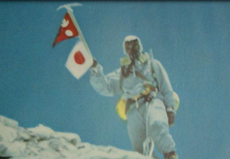 Toshio Imanishi au sommet du Manaslu le 9 mai 1956