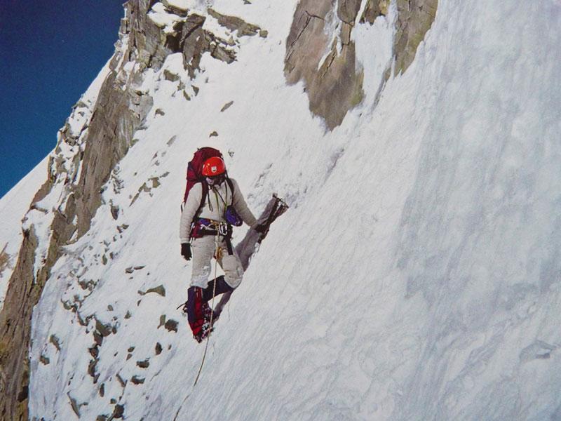 Alex Macintyre dans la face sud de l'Annapurna en 1982