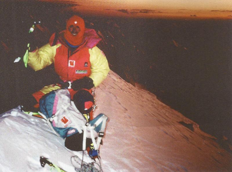 Christophe Profit au sommet du K2