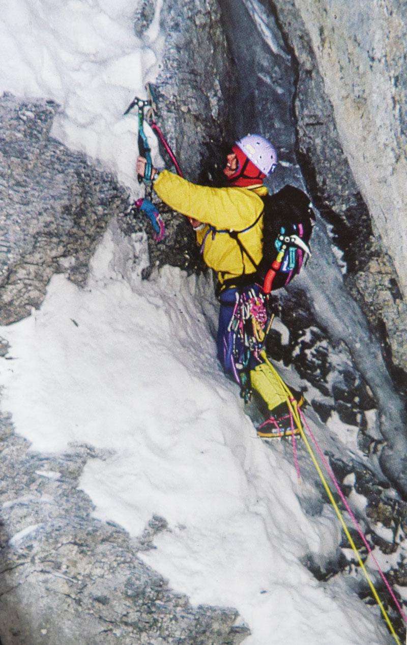 Catherine Destivelle dans la face nord de l'Eiger