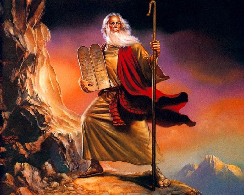 Moise, style alpin au mont Sinaï